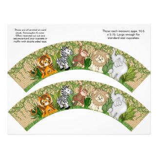 2 envolturas personalizadas mono de la magdalena d tarjetones