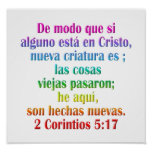 2 españoles del 5:17 de los Corinthians Impresiones