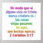 2 españoles del 5:17 de los Corinthians Póster