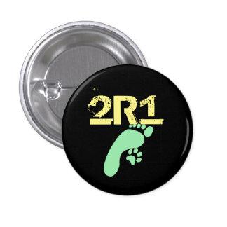 (2 especies 1 Thoought) diseño original 2R1 Pin Redondo De 1 Pulgada