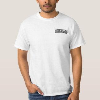 2 EZY mens industrial glass logo white t-shirt