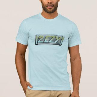 2 EZY mens steel effect logo blue green t-shirt