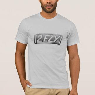 """2 EZY"" mens steel effect logo grey t-shirt"