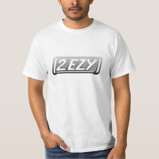 """2 EZY"" mens steel effect logo t-shirt"
