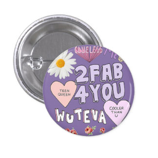 2 Fab 4 You 1 Inch Round Button