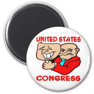 2 Faced Lying U.S. Congress Magnet