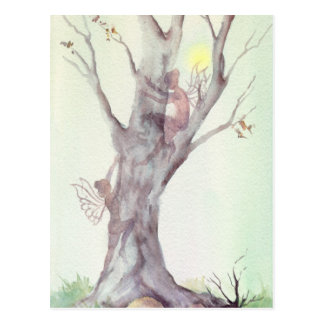 2 FAIERIES in the TREES by SHARON SHARPE Post Card