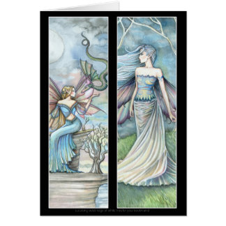 2 Fairy Bookmarks Card by Molly Harrison