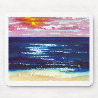 2 felices - Regalos del arte de la playa de la Mousepads