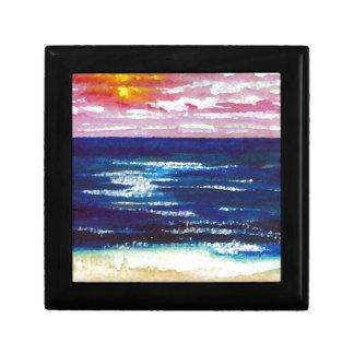 2 felices - Regalos del arte de la playa de la pue Cajas De Joyas
