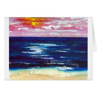 2 felices - Regalos del arte de la playa de la Tarjeta De Felicitación