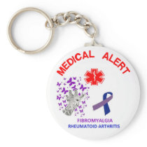 2 Fibromyalgia and Rheumatoid Arthritis Key chain