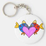 2 Fish Kissing Key Chains
