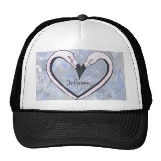 2 Flamingo kiss heart Je t'aime, Trucker Hat