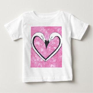 2 Flamingo kiss heart T-shirt