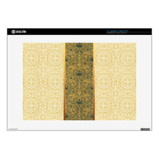2 Floral Patterns by William Morris Laptop Skin 3