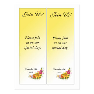 2 Flower Bouquet Save the Date Bookmarks Postcard