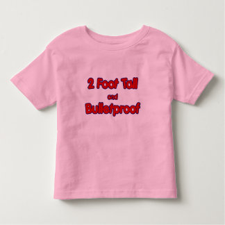 2 Foot Tall and Bulletproof toddler ringer shirt