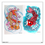 2 for 1 Koi design wall decal