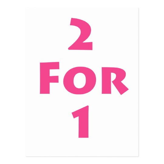 2 for 1 postcard