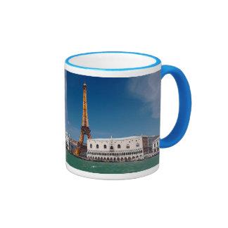 2 for 1 Venice and Paris - Mixed up World Ringer Mug