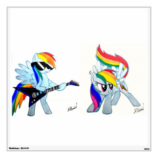 2 for one Rainbow Dash decal