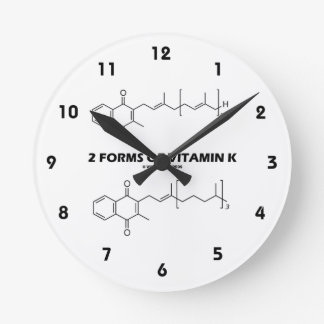2 Forms Of Vitamin K (Chemical Molecules) Wallclock
