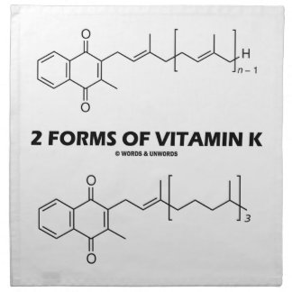 2 Forms Of Vitamin K (Chemical Molecules) Cloth Napkin