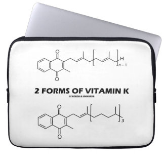 2 Forms Of Vitamin K (Chemical Molecules) Laptop Computer Sleeve