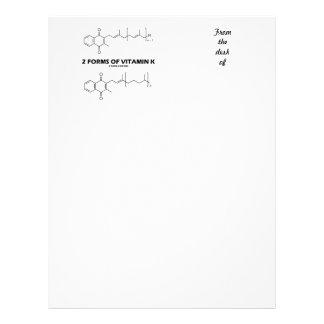 2 Forms Of Vitamin K (Chemical Molecules) Letterhead Design