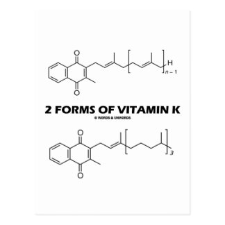 2 Forms Of Vitamin K (Chemical Molecules) Post Cards