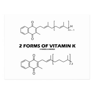 2 Forms Of Vitamin K (Chemical Molecules) Postcard