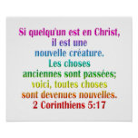 2 franceses del 5:17 de los Corinthians Posters