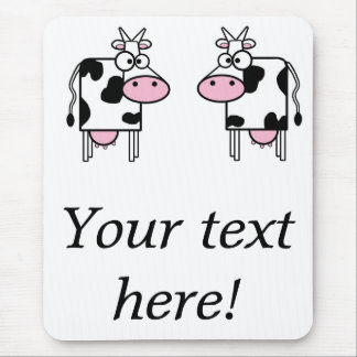 2 funny cows mouse pad
