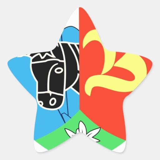 2. GebBeobBtl 83 Pegatina Forma De Estrella Personalizadas