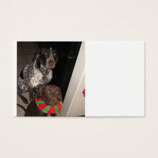 2 german shorthair pointers.png business card