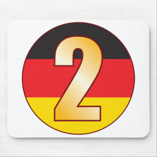 2 GERMANY Gold Mouse Pad