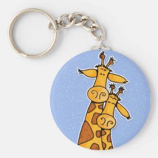 2 giraffes keychain