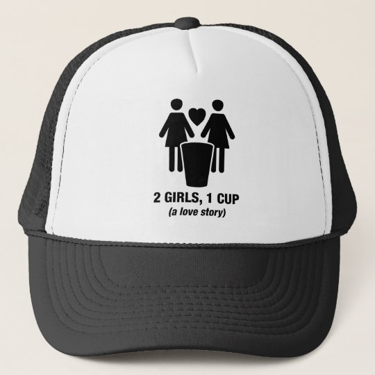 2 girls one cup - 2girls1cup - funny tee trucker hat