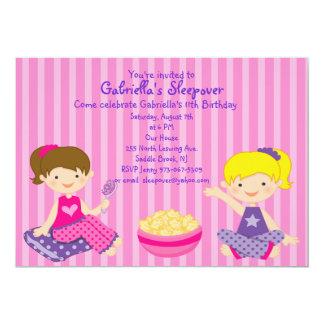 2 Girls Sleepover Birthday Invitation