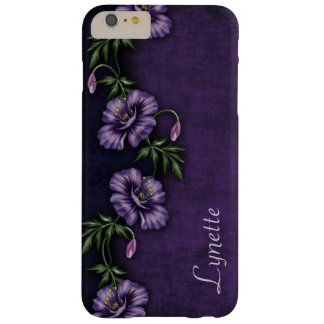 #2 Girly Purple Passion Flowers Monogram Barely There iPhone 6 Plus Case