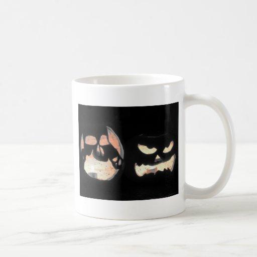 2 Glowing Jack-O-Lanterns Mugs