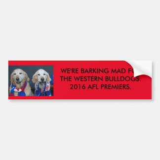 2 Golden Retriever's Bumper Sticker