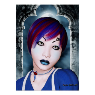 # 2 góticos hermosos póster
