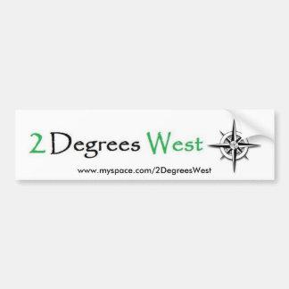 2 grados de pegatina para el parachoques del oeste pegatina para auto
