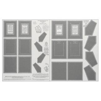 2 Gray Zazzle Fabric photo frame crafts