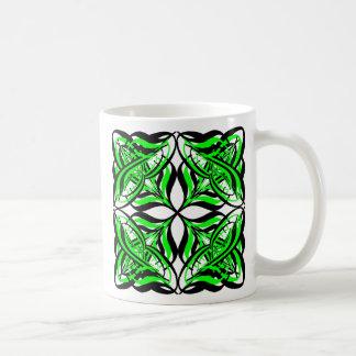 2 Green Alternate Transparent Coffee Mug