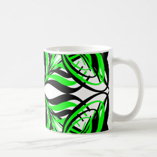 2 Green Alternate Transparent Coffee Mugs