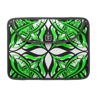 2 Green Alternate Transparent Sleeve For MacBook Pro