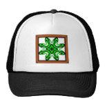 2 Green Transparent Mesh Hats